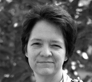 Black and white portrait of Ann Hostetler
