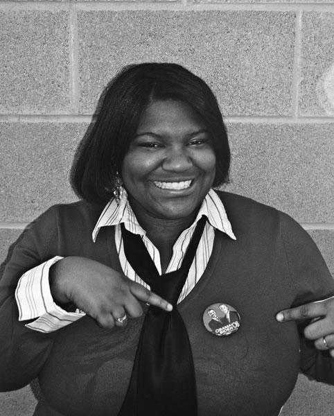 Black and white portrait of Jennifer Speight