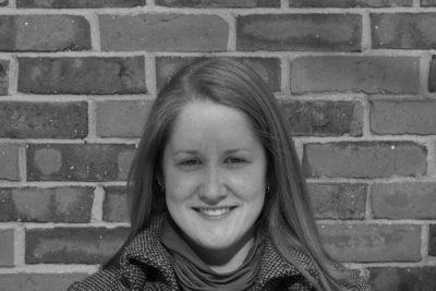 Black and white portrait of Lindsay Yoder