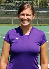 Portrait of Sarah Yoder at tennis court