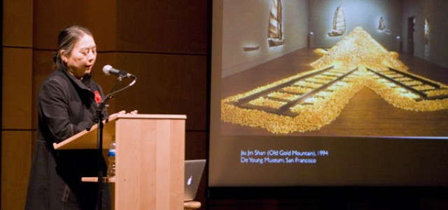 Chinese artist lectures on history, change