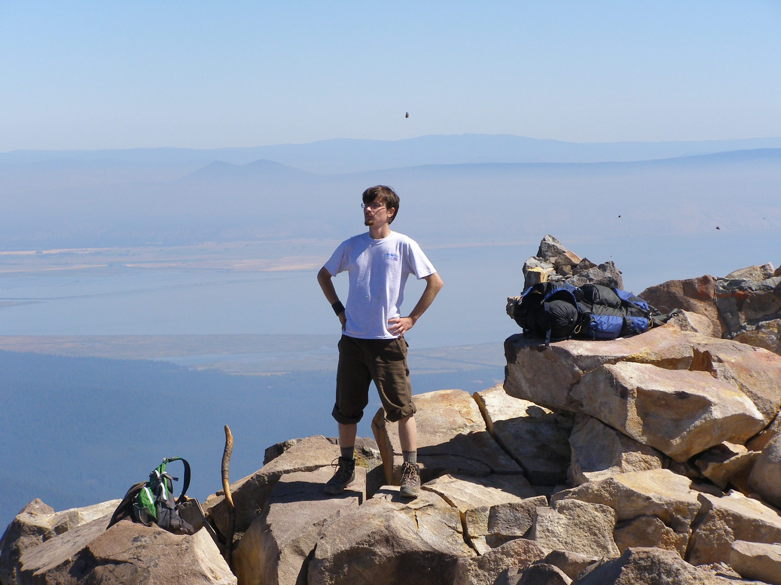 Paul Boers stands on a rocky overlook