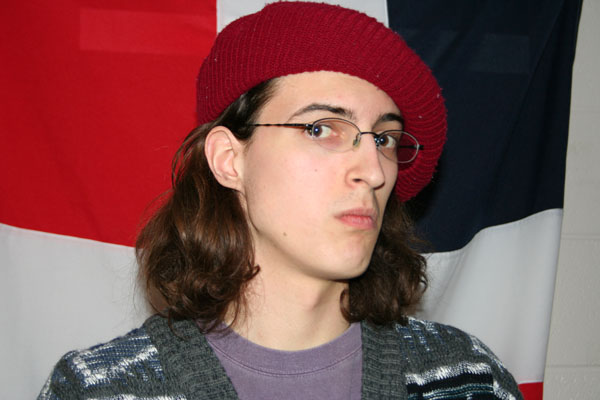 Aaron Kaufmann in a beret