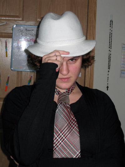 Dara Joy Jaworowicz tips her hat to the camera