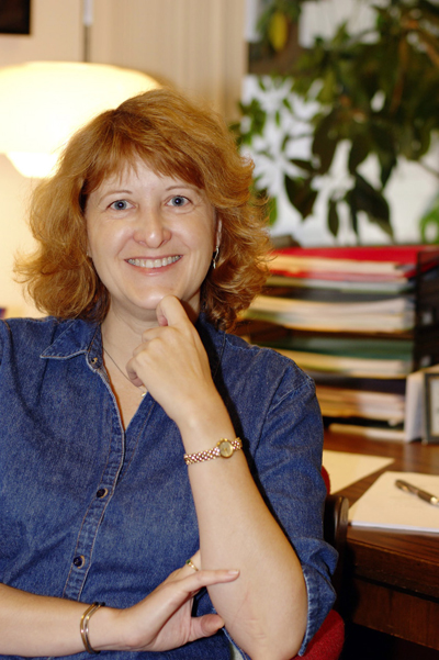 Noreen Herzfeld is involved in the annual Goshen College Religion and Science conference.