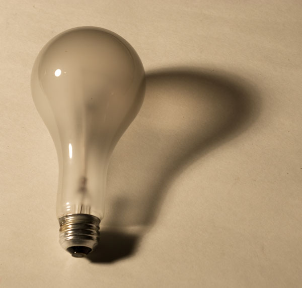 Simon Birky-Hartmann's photos of broken lightbulbs
