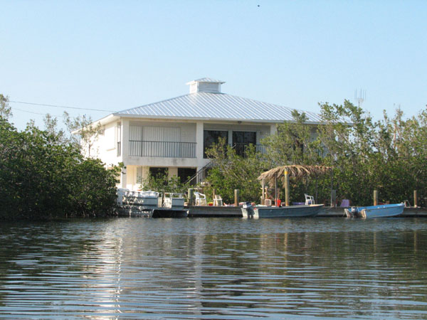 The marine biology facility used by Goshen College for the May term class that studies fish, snails and other marine life in the Florida Keys.  Photo by George Smucker.