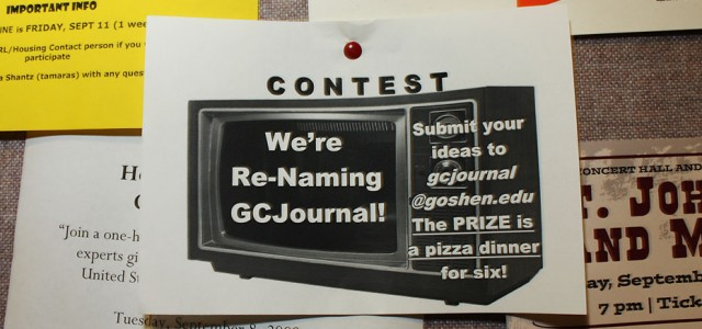 "Broadcasting department holds contest to re-name ""GC Journal"""