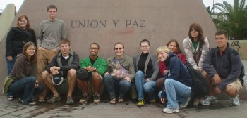 This fall's group is the smallest SST unit ever to visit Peru. Photo provded by Public Relations.