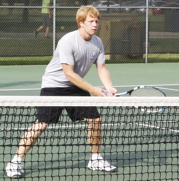 Steury playing doubles