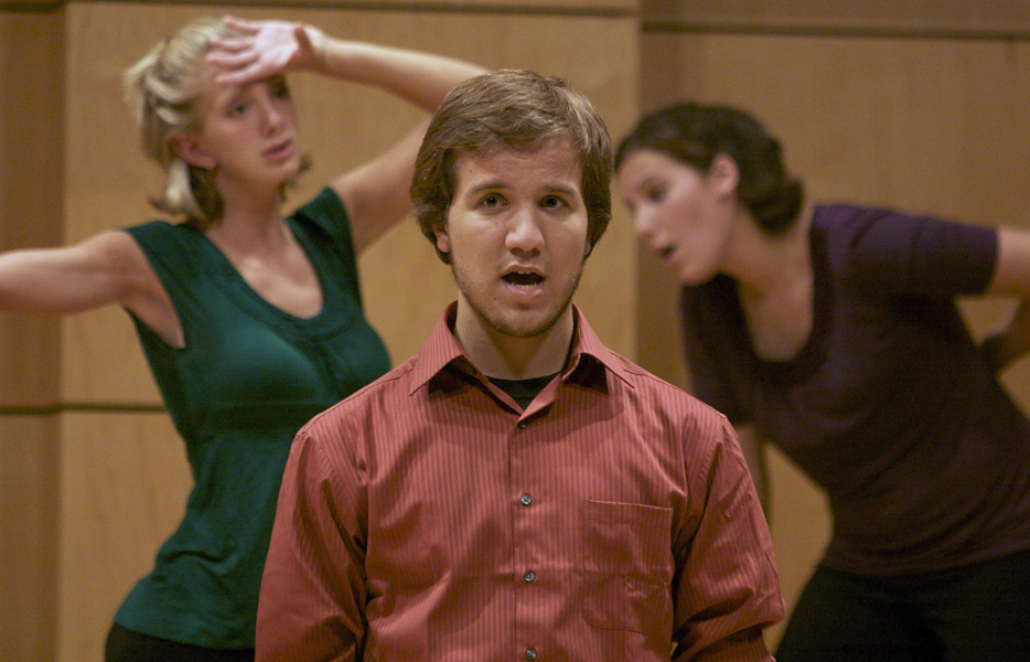 Three members of Parables perform in Rieth Recital Hall