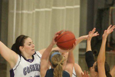 Basketball plaayers on defense