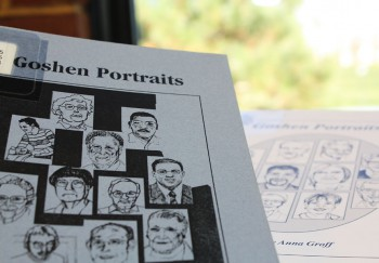 Goshen Portaits is a Pinchpenny Press book of profile essays released ever few years, featuring individuals that live and work in Goshen.  Photo by Tim Blaum.