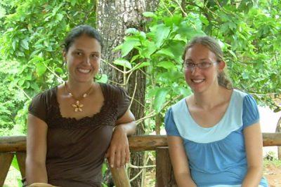 Kat Stutzman (left), with Hannah W. Miller at El Iguanario