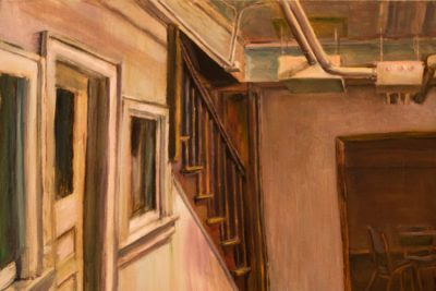 Rachel Friesen's painting of a staircase