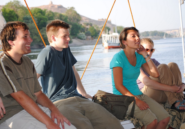 SSTers on a boat in Egypt