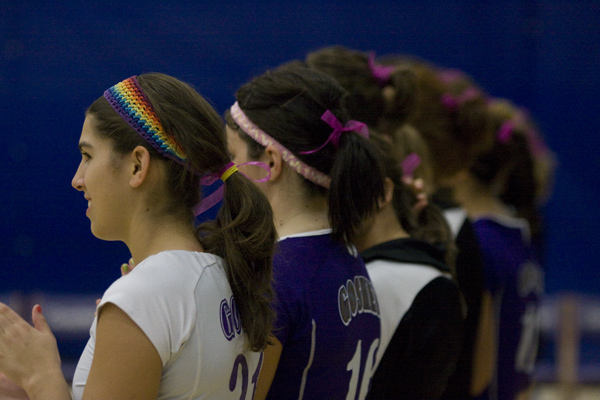 volleyball players standing in a line