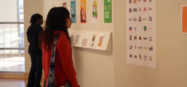 Burton display features graphic design creativity