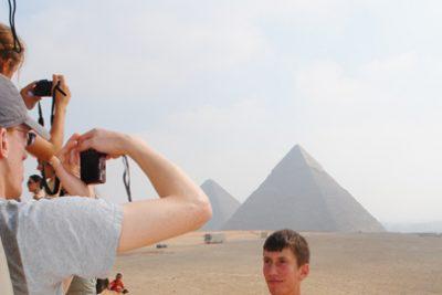 Ben Baumgartner in Egypt