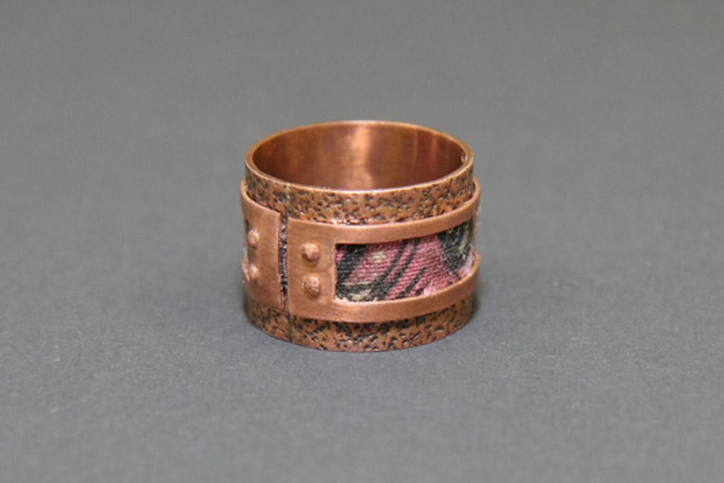 One of Ingrid Derstine's handmade rings
