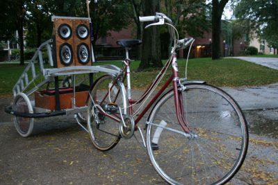 Noah Weaverdyck's bike chariot