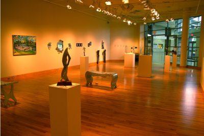 Faculty art in the Hershberger Art Gallery