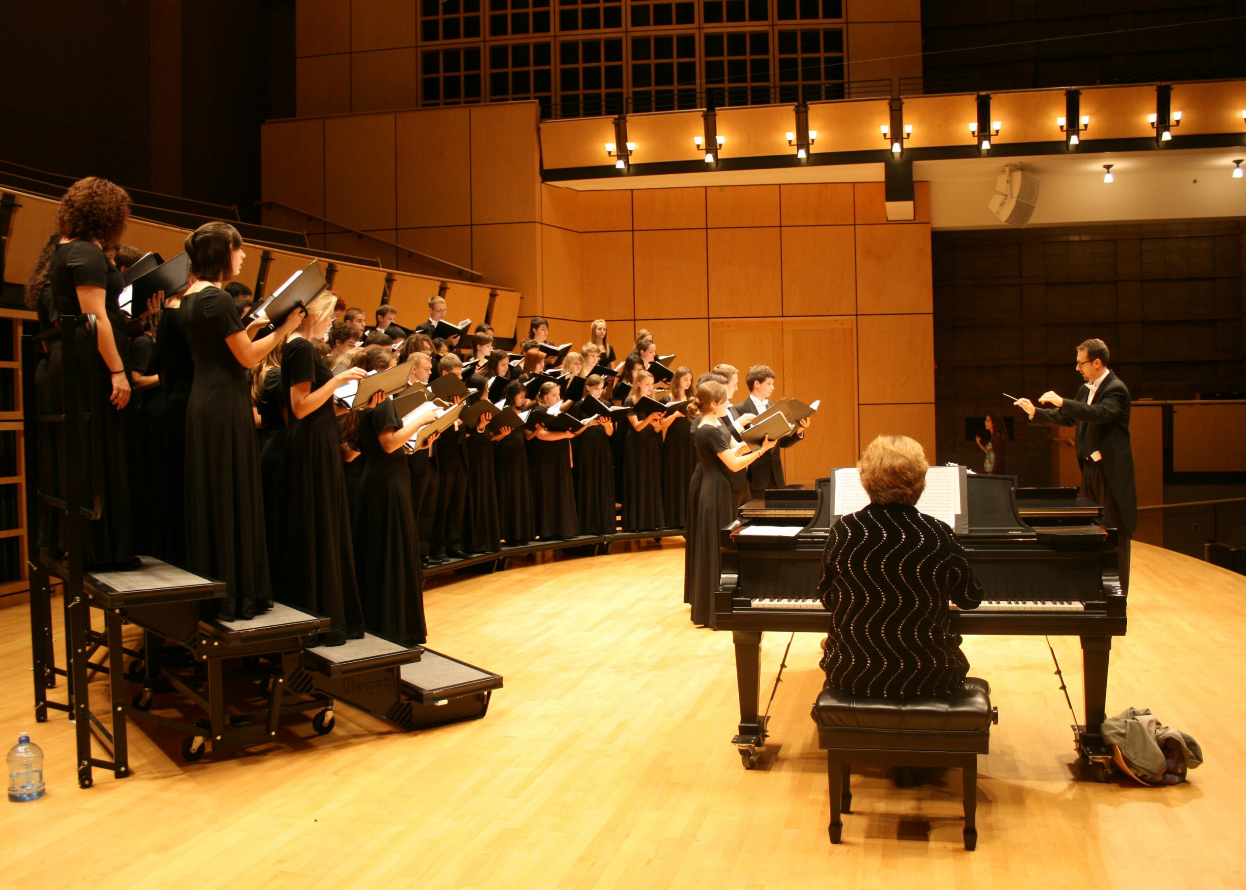 Voices of the Earth performs on the Sauder Concert Hall stage