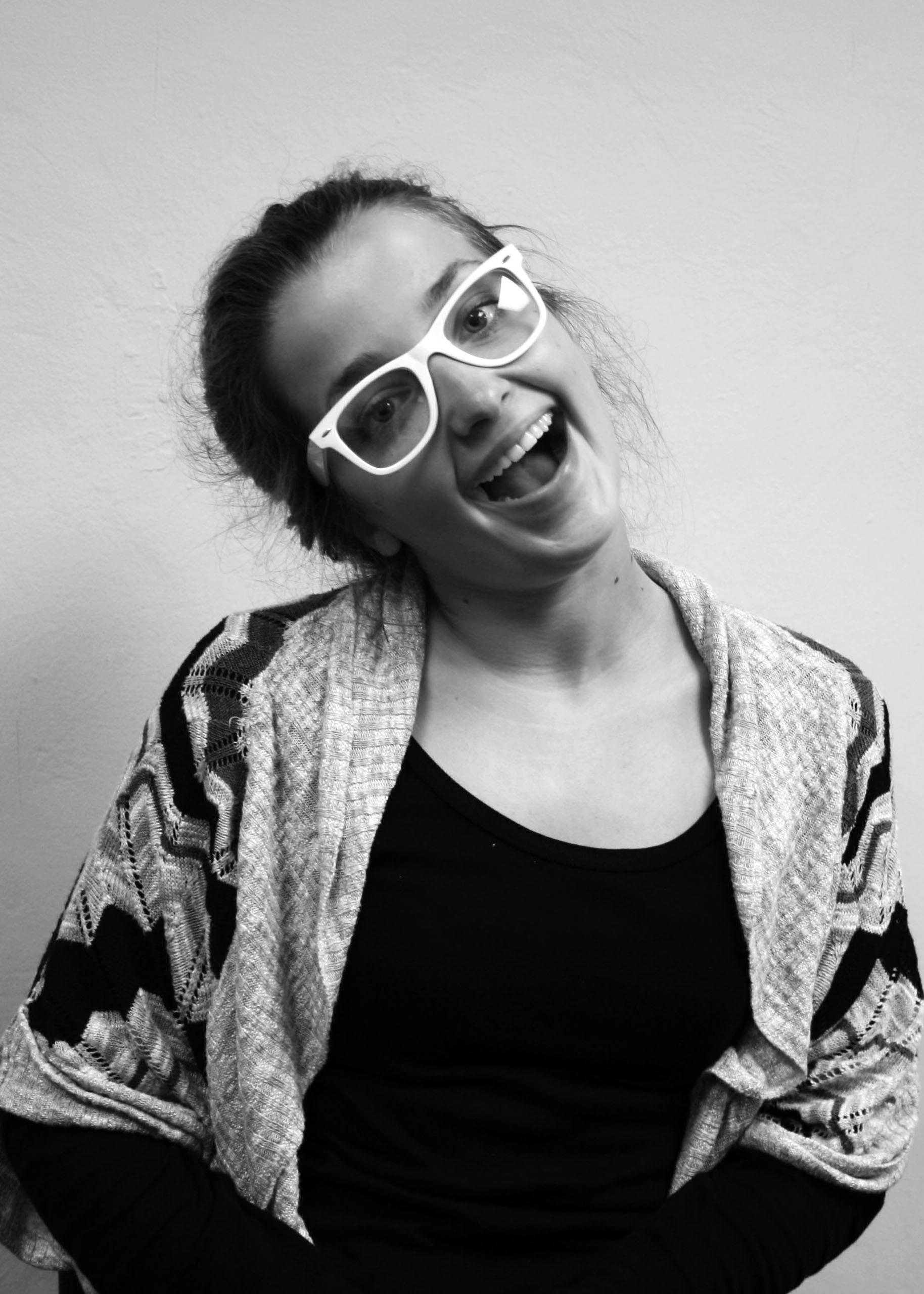 Black and white portrait of Bojana Jankova