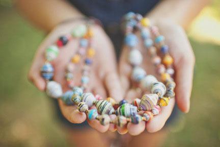 Ugandan Jewelry in someones hands