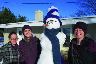 Snowperson at vita house