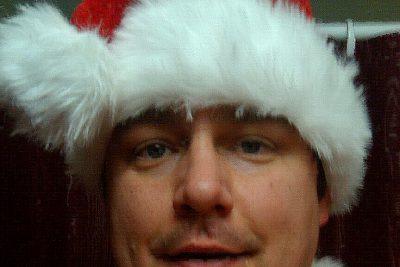 Selfie of Jason Samuel in full Santa costume
