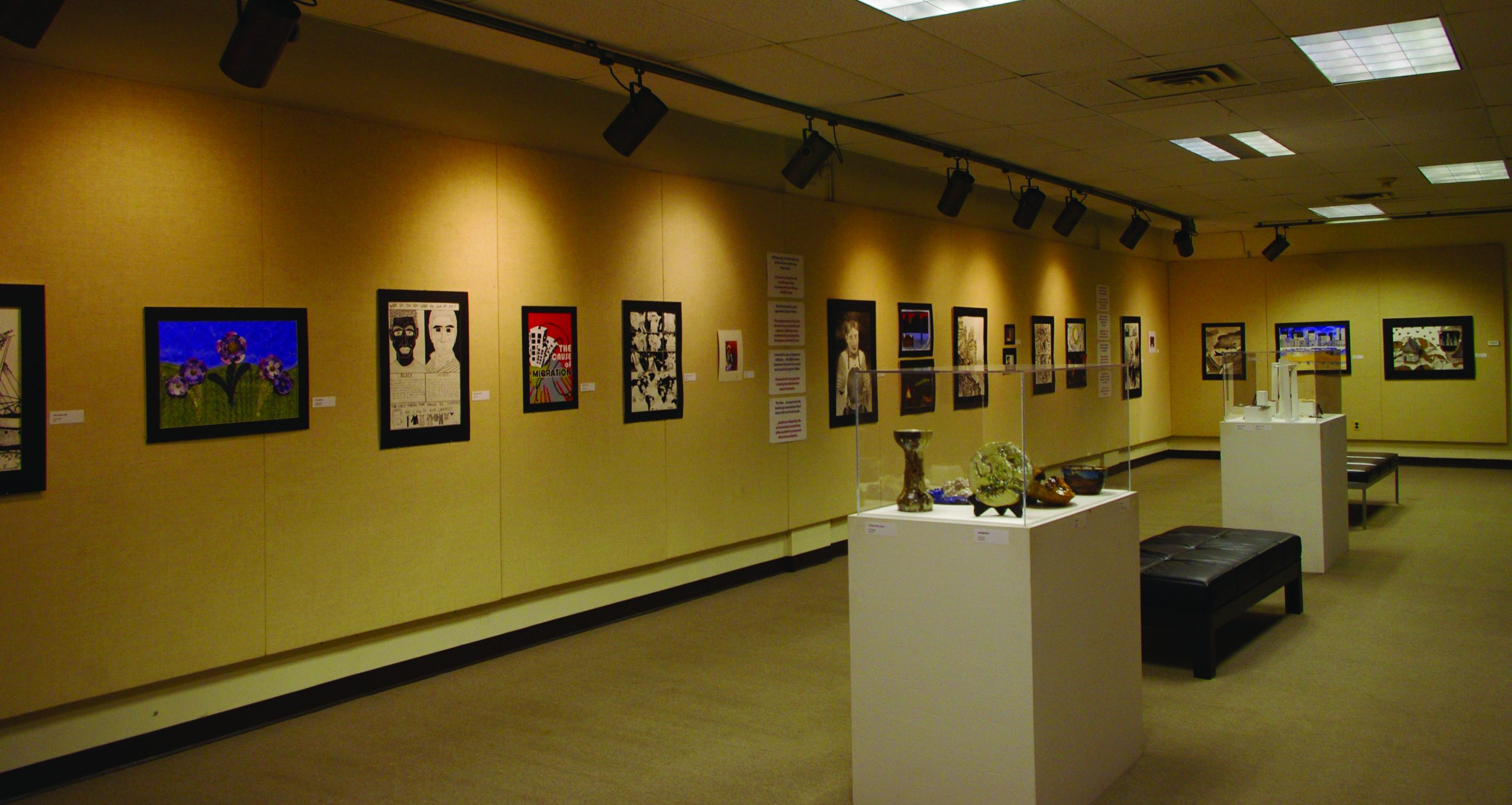 The North and South art gallery in the Good Library Gallery