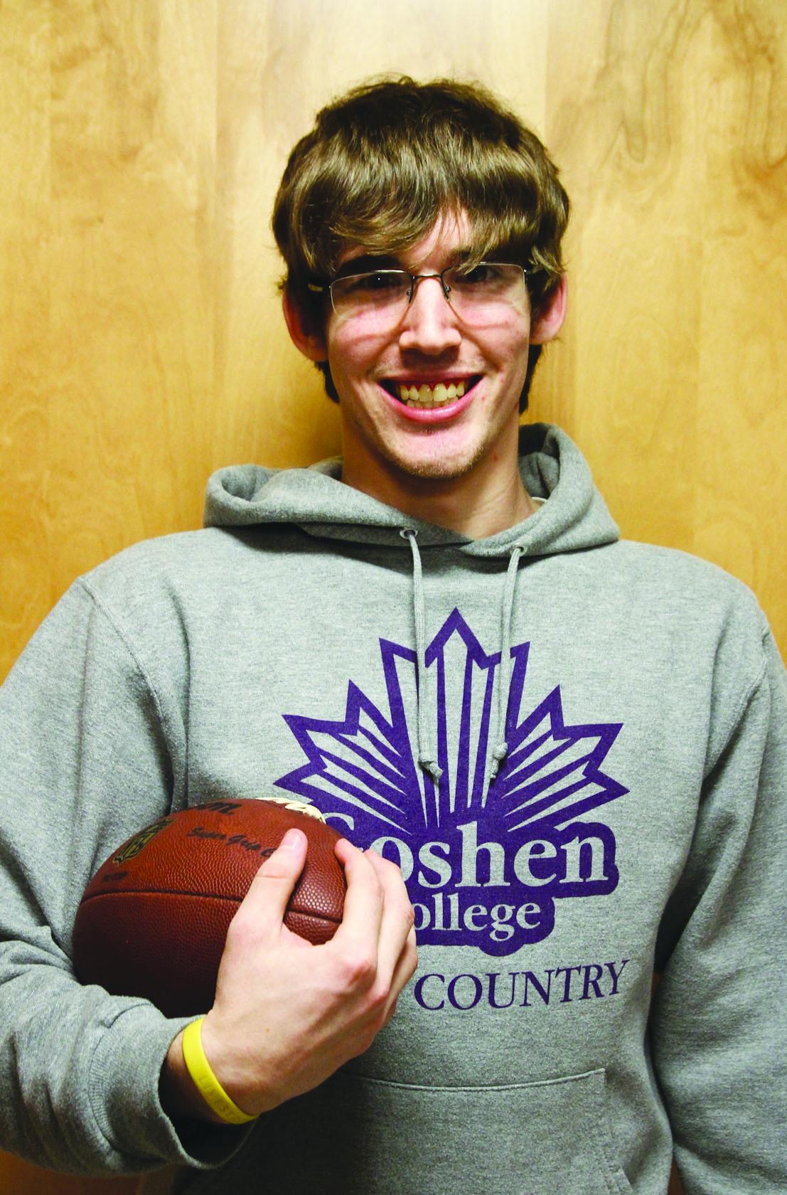 Portrait of Andrew Witkowski with football