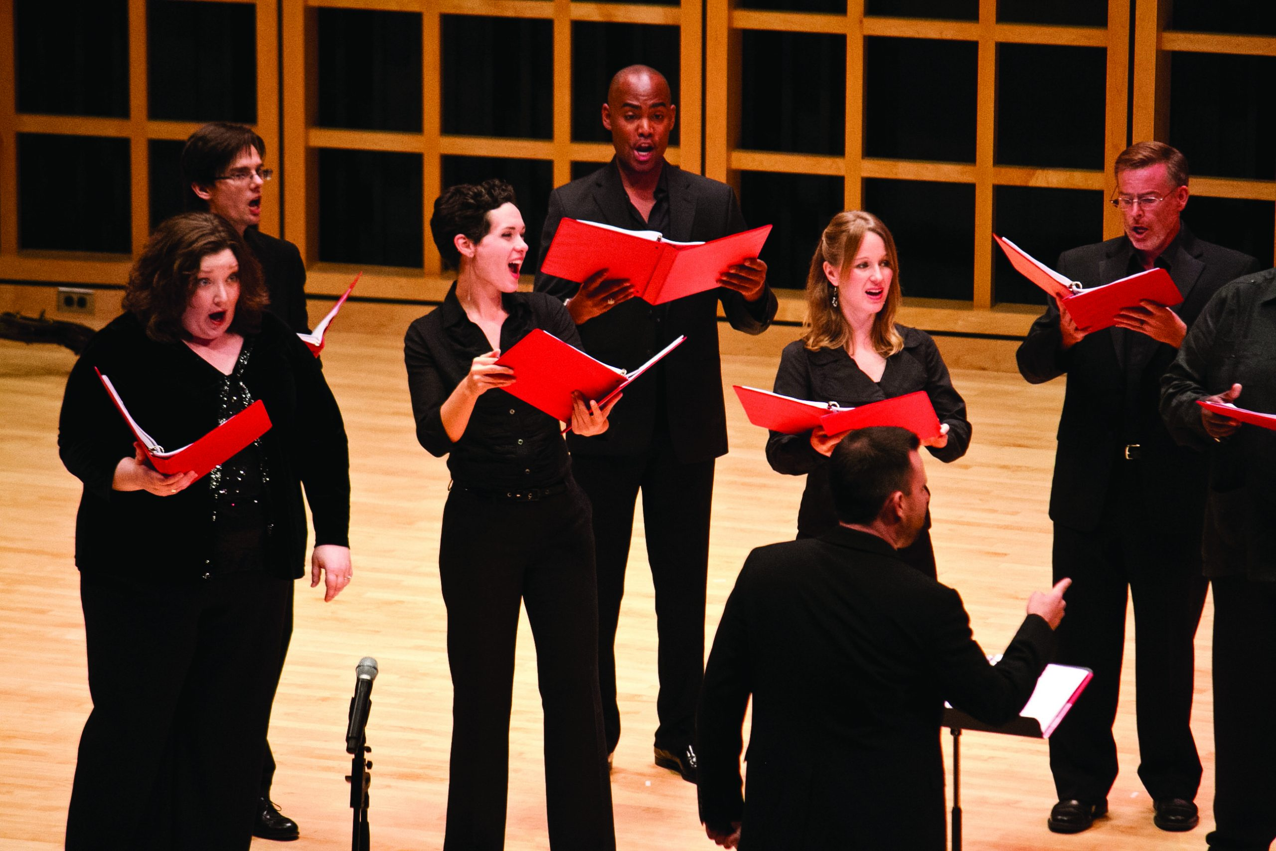 Choral group Seraphic Fire performs in Sauder Concert Hall