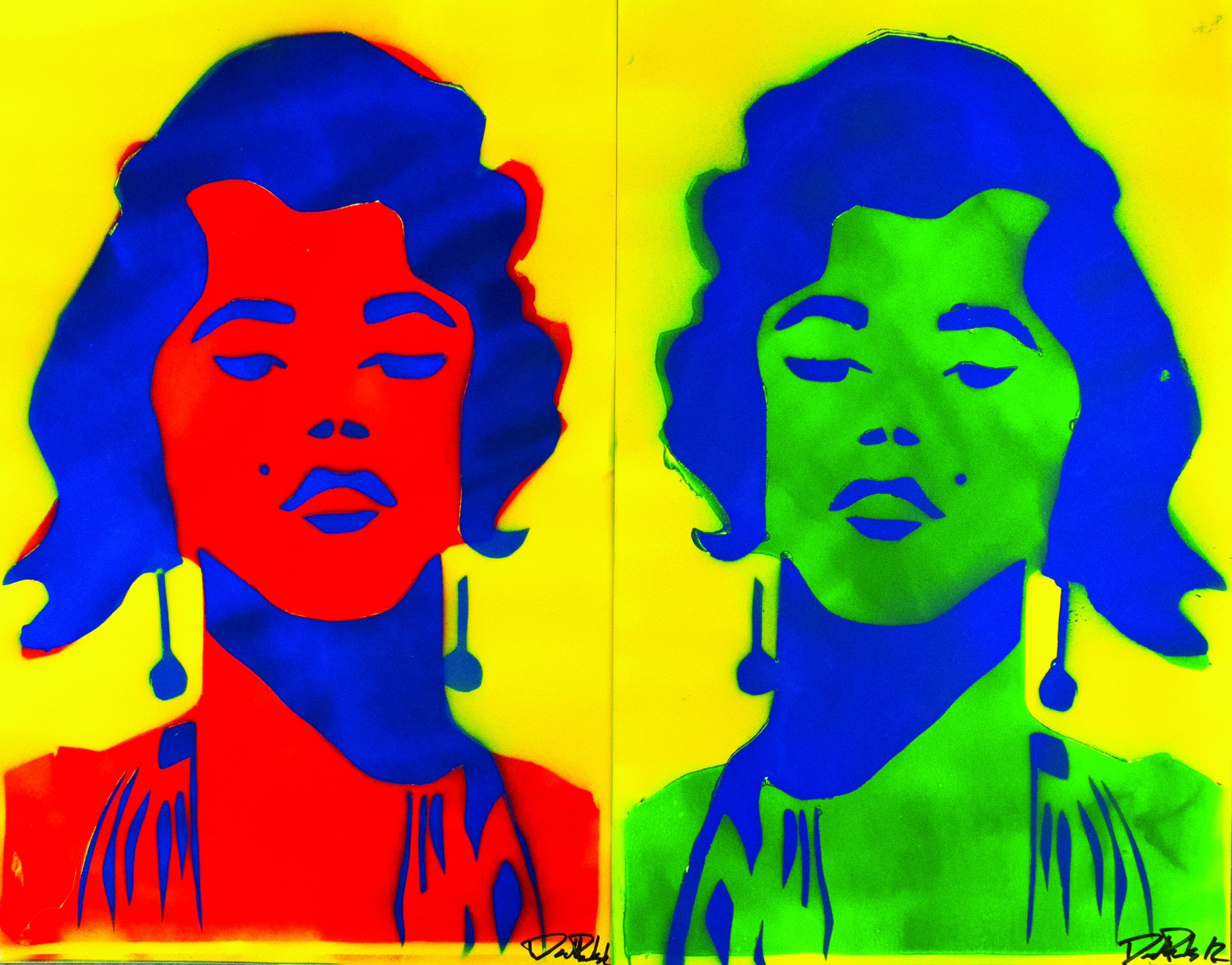 David Pauls' pop art featuring two portraits of a woman