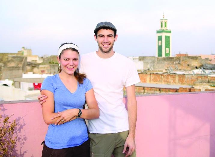 Sam and Vanessa at city overlook