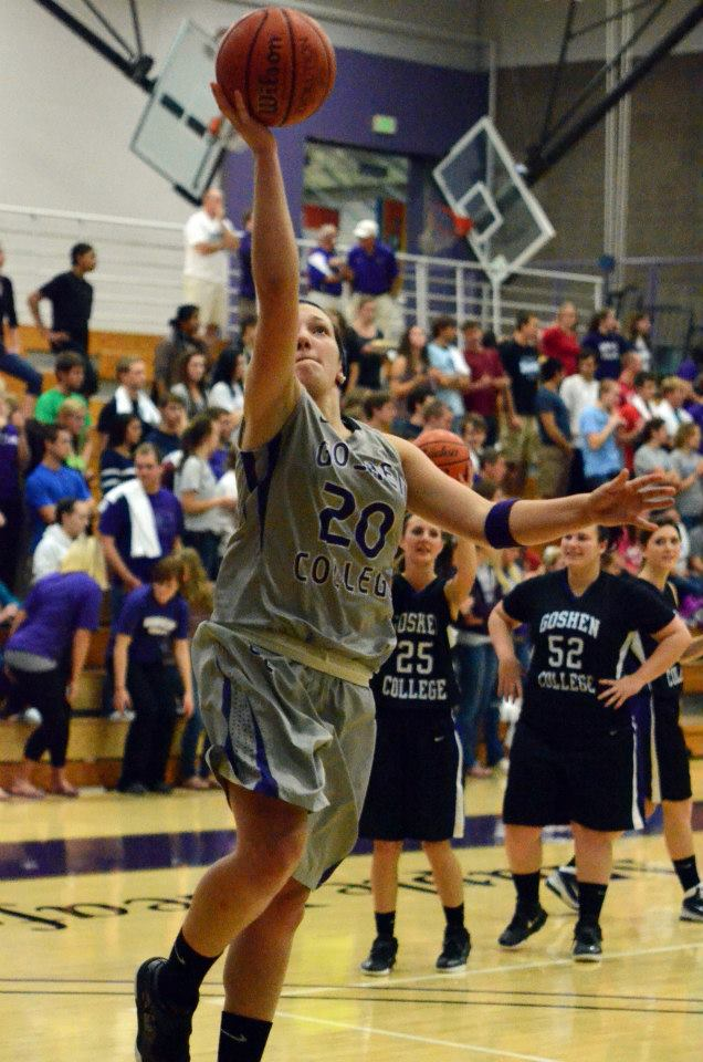 basketball team warming up