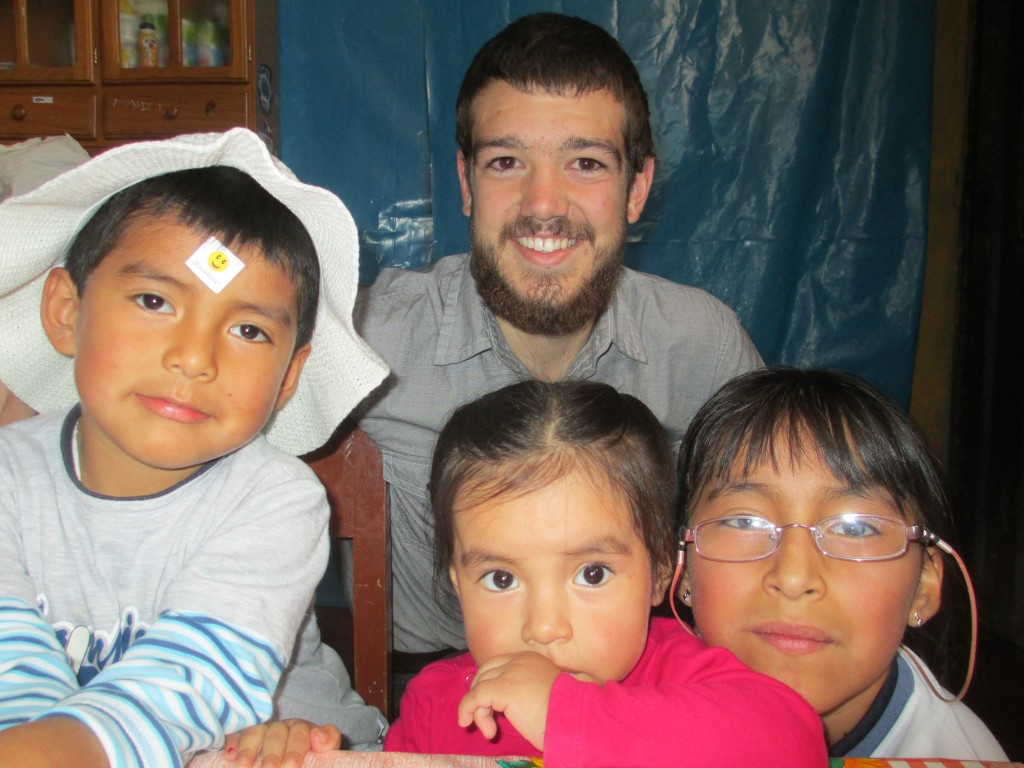 Ben Sutter with family in Peru