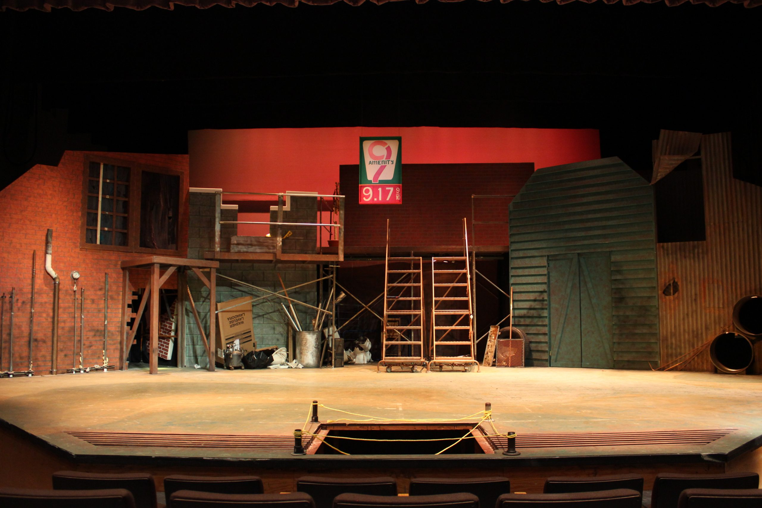 The set for Urinetown