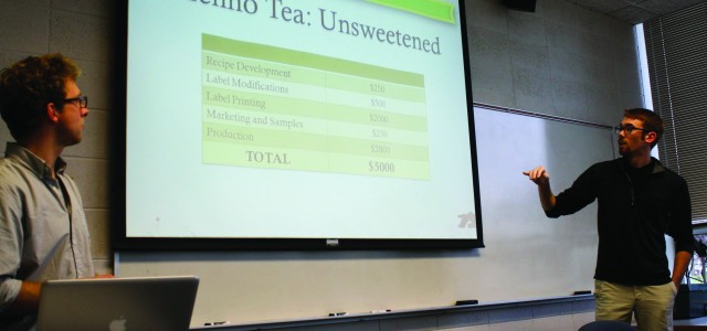 Student entrepreneurs pitch for business grants