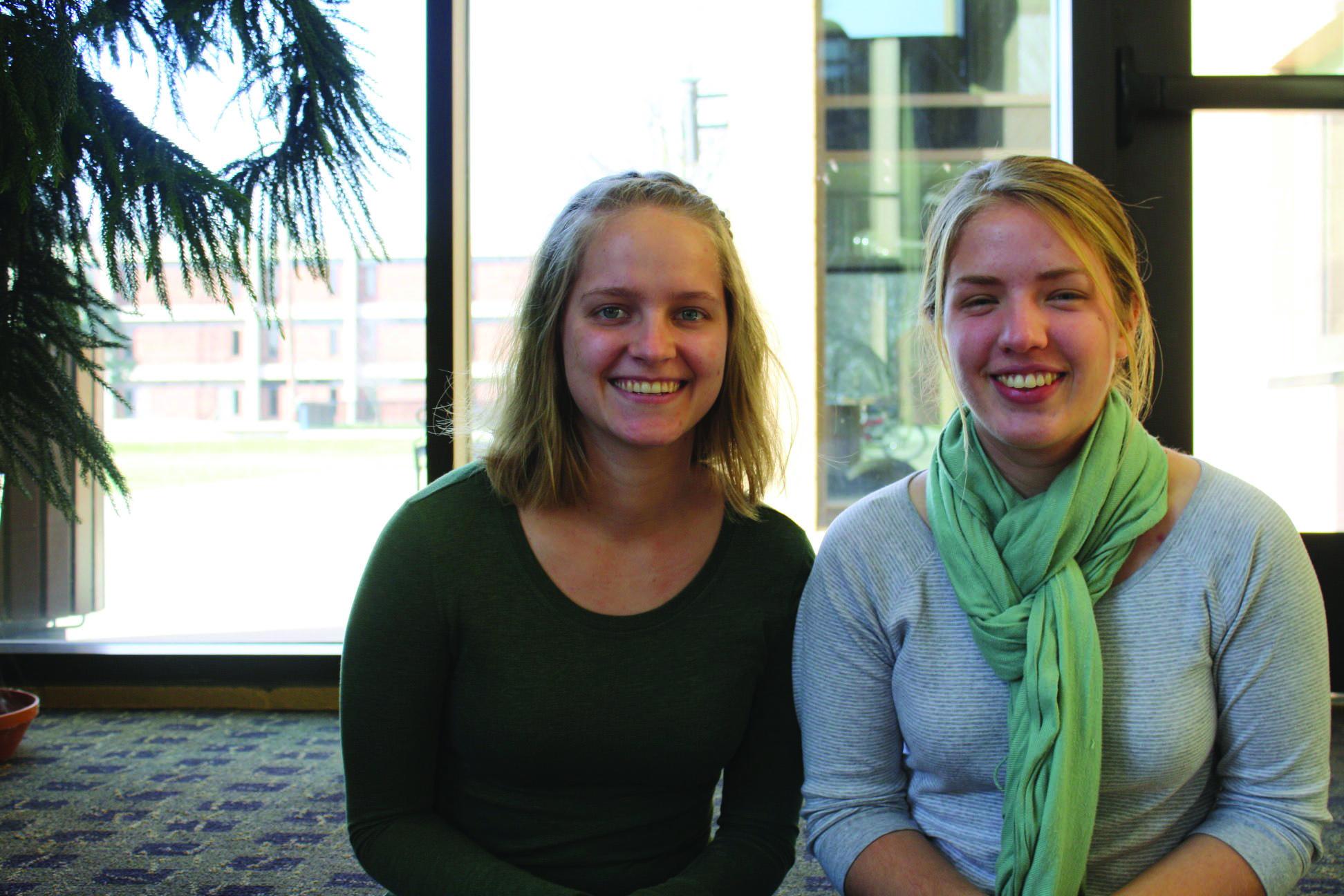 Photo of Lydia Yoder and Hannah Geiser