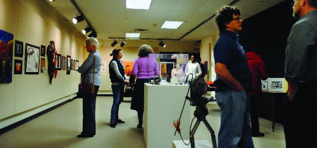 Students present artwork at Lion and Lamb exhibit