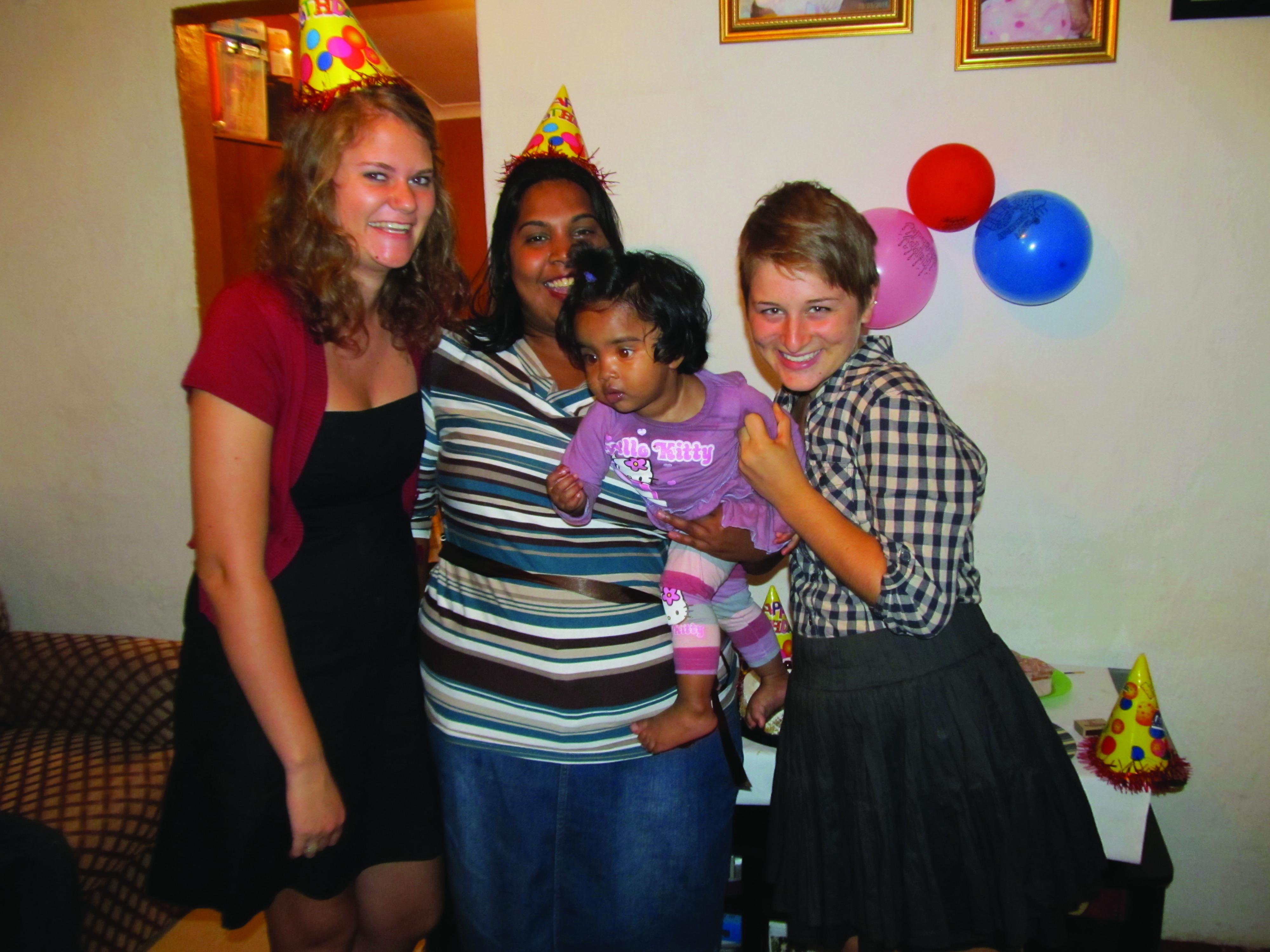 Joanna Epp and Hannah Sauder at a birthday party