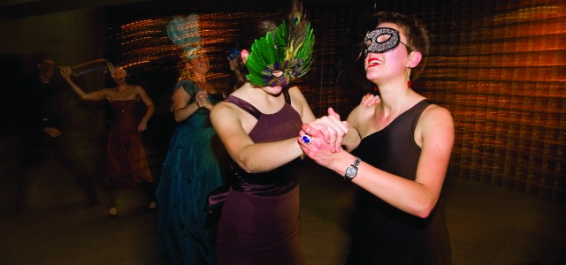 Students dance at Masquerade (photo)