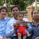 Jacob Martin and his Cambodian host family