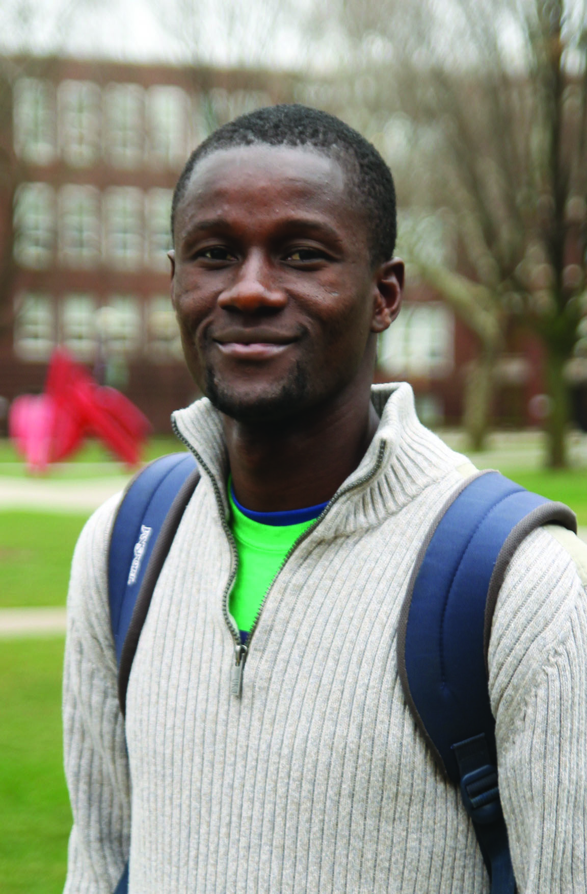 Portrait of Madi Ouedraogo on campus