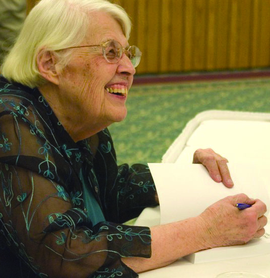Mary Oyer laughing