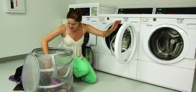 Coinless laundry machines installed