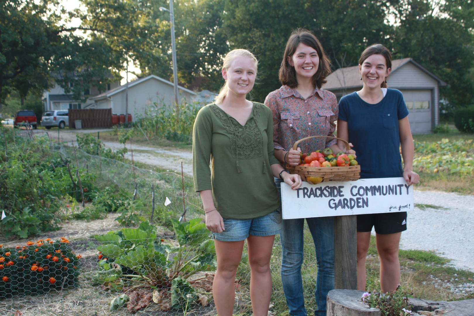 students at trackside garden