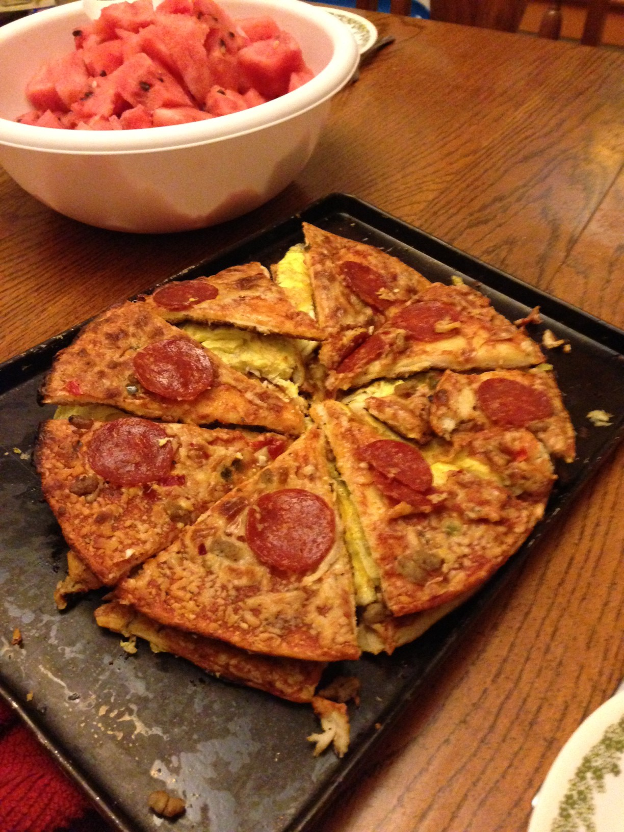 Photo of a pizza